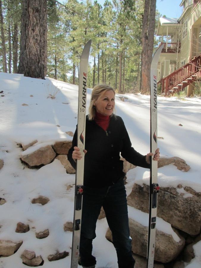 Tarja with Karhu-skis 2018