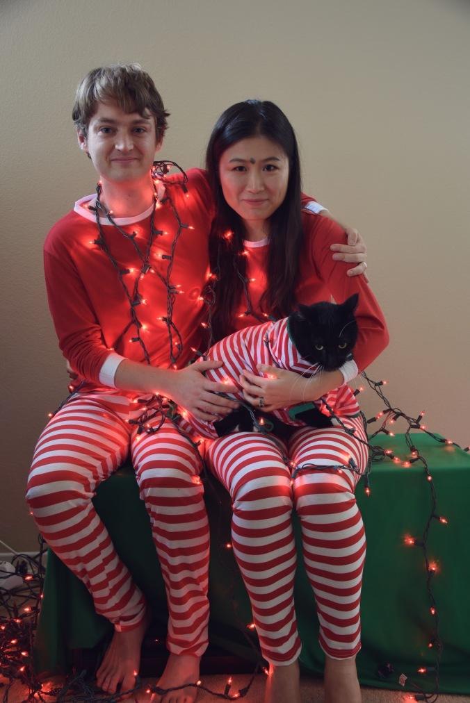 Max and Lia_Christmas Pajamas with Jack